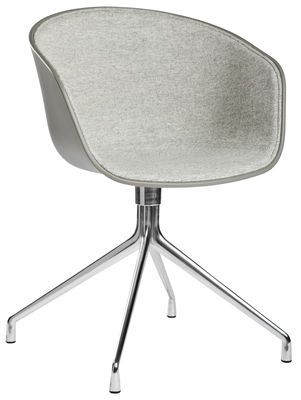 About A Chair Swivel Armchair Light Grey Fabric By Hay Design