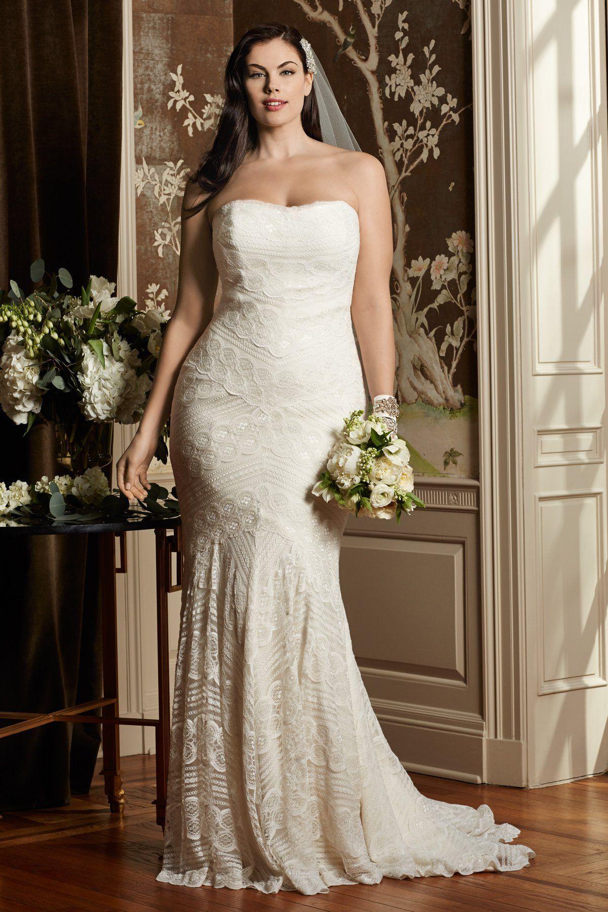 Plus size wedding dresses with red accents  Vestidos de novia