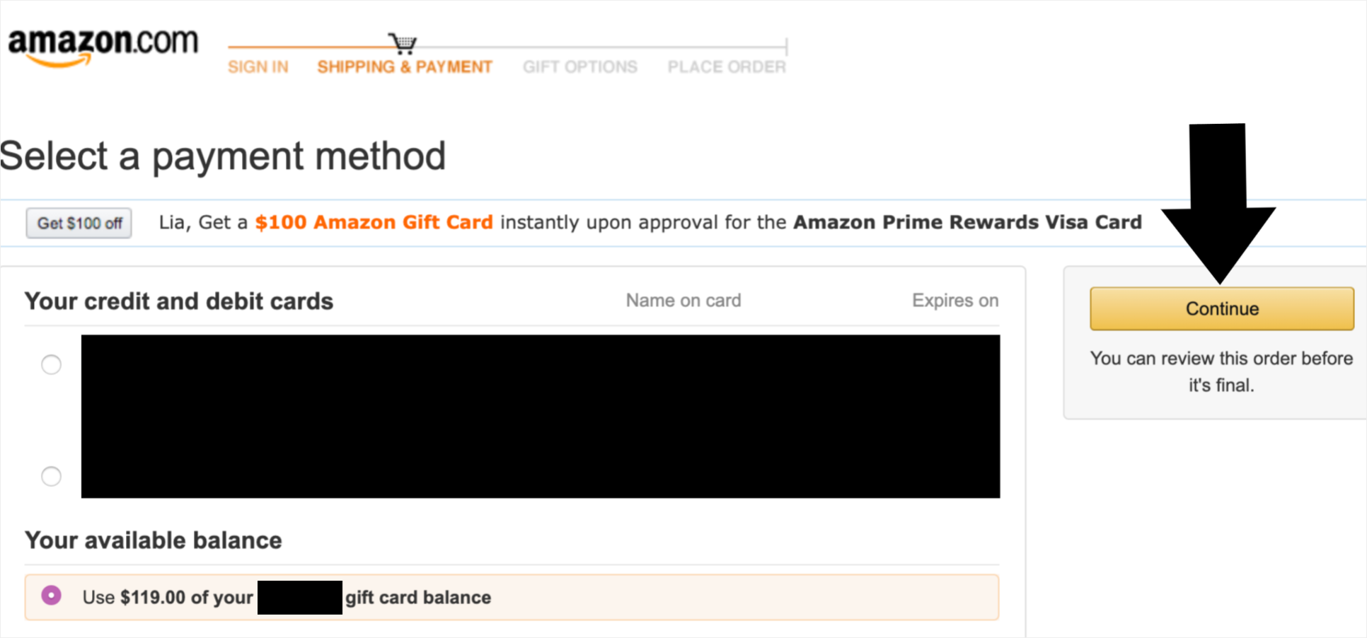 How To Pay For Prime Membership Using Your Amazon Gift Card Balance Gift Card Balance Amazon Gifts Amazon Gift Cards