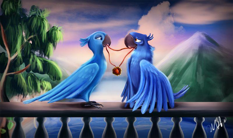 Blu And Jewel By Cicakkia On Deviantart Rio Movie Disney Princess Wallpaper Disney Images