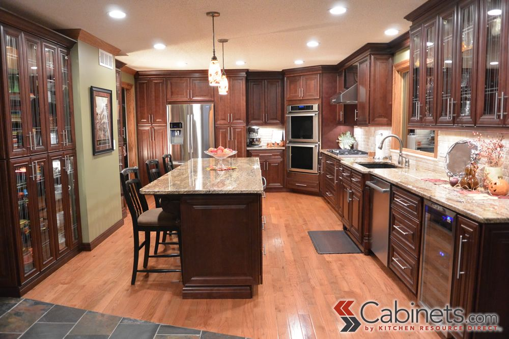 Hampton Maple Mahogany Photo Gallery | Cabinets.com By Kitchen Resource  Direct