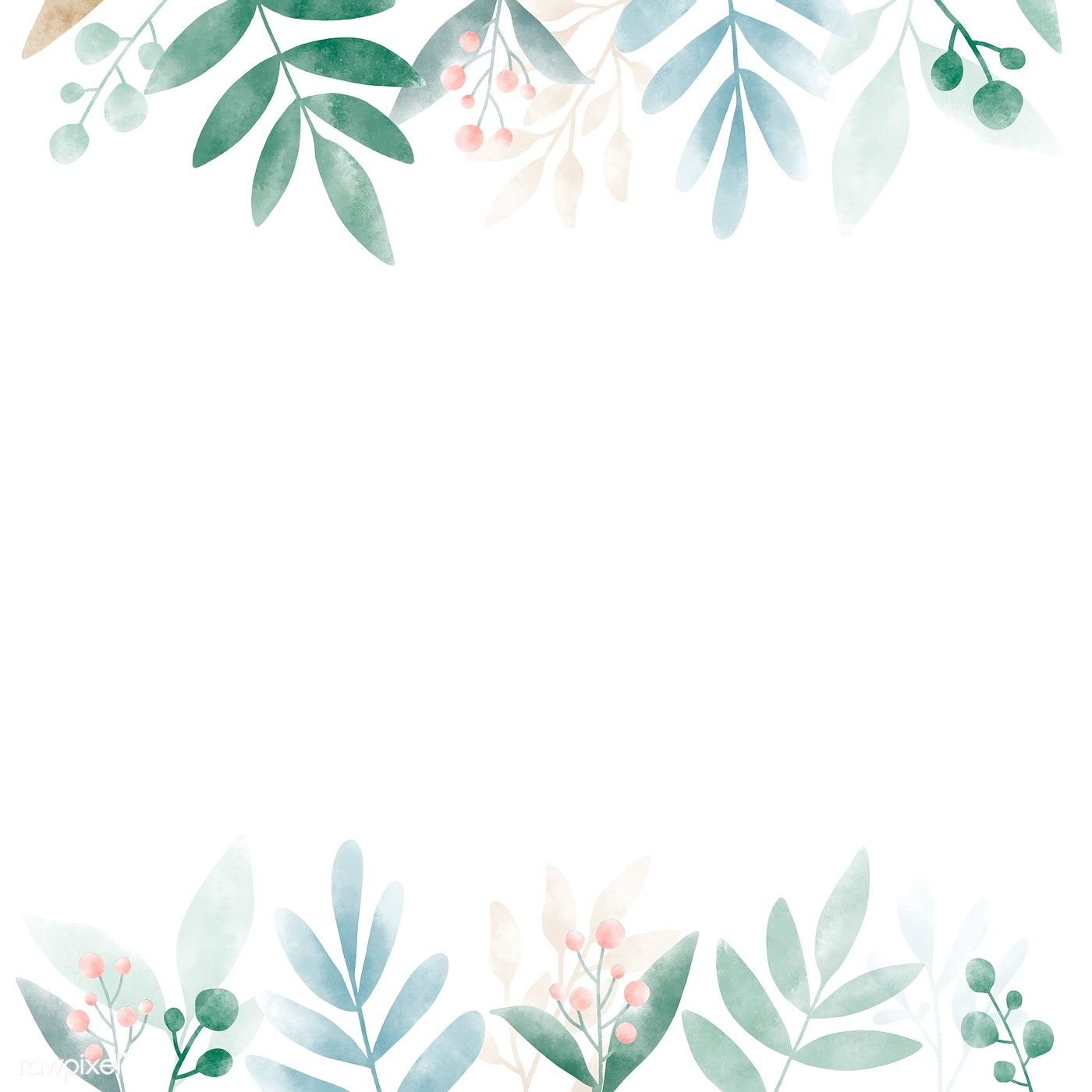 Download Premium Vector Of Watercolor Leaves With Copy Space