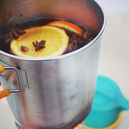 Backpacker's Nightcap We discovered this easy mulled wine recipe after a snowstorm that kept us inside, and we were excited to adapt it for the outdoors. Just imagine sipping on this sweet warm delight while watching the sun set.