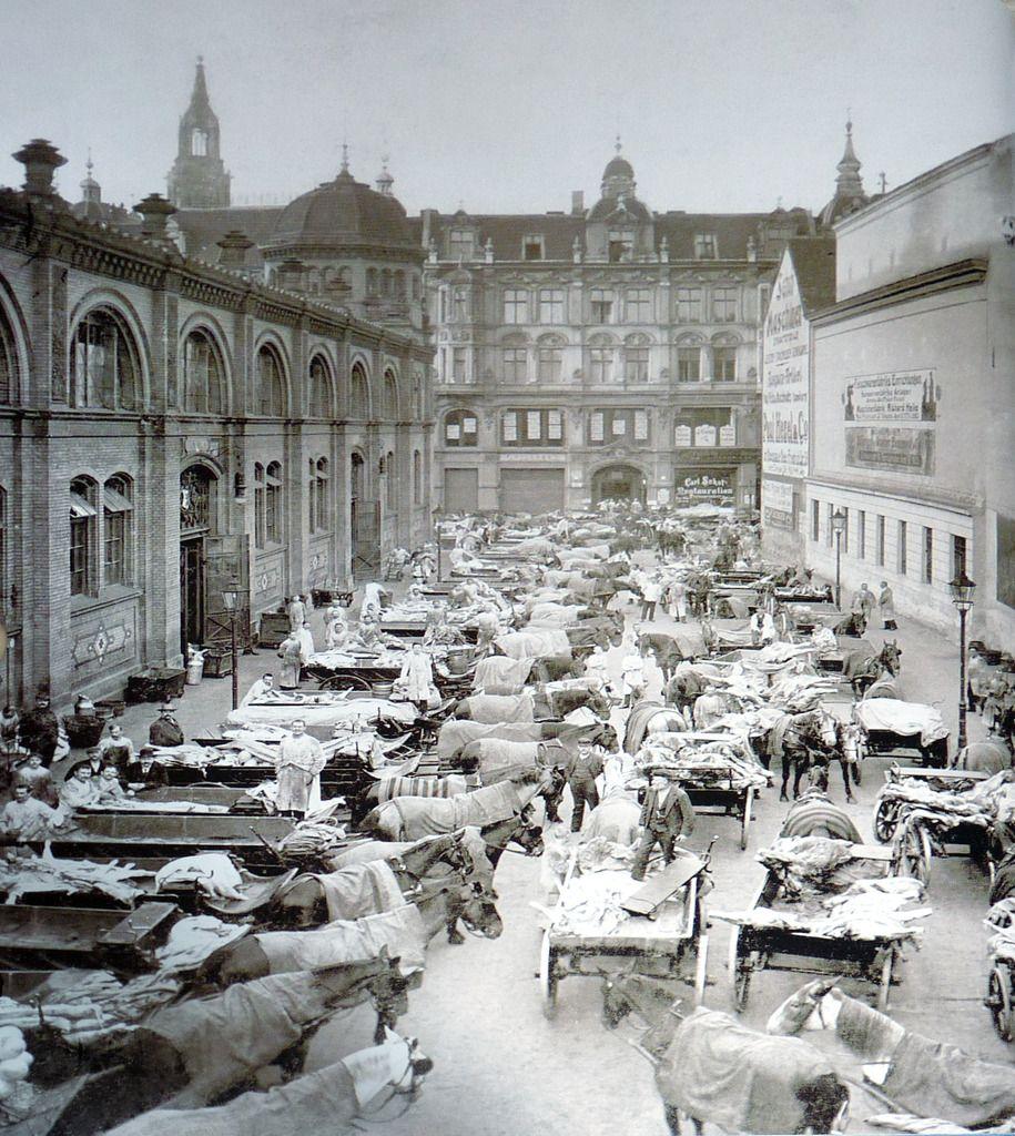 Zentralmarkthalle am Alex um 1900