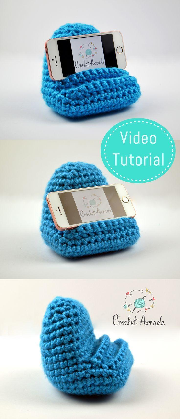 Photo of Crochet Mobile Phone Holder Video Pattern speziell entwickelt, um zu lehren, wie man …