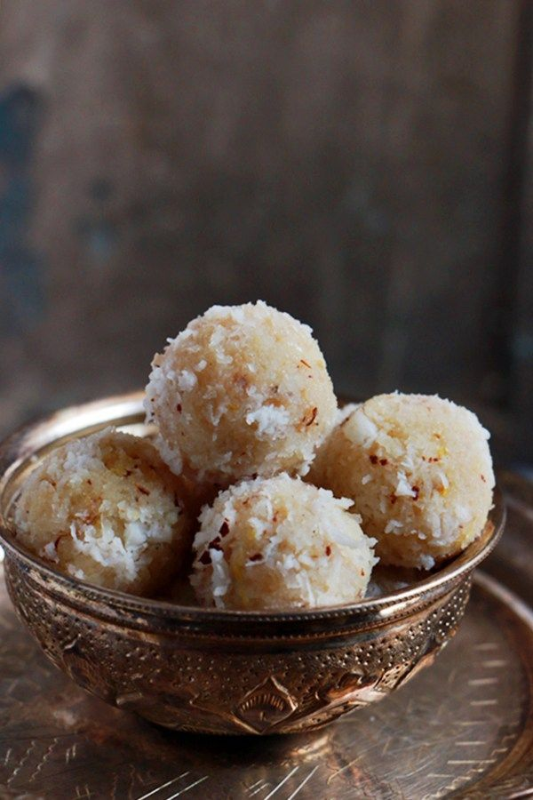 Coconut Ladoo Recipe With Condensed Milk Easy Sweet Recipes Cook Click N Devour Condensed Milk Recipes Coconut Ladoo Recipe Sweet Meat