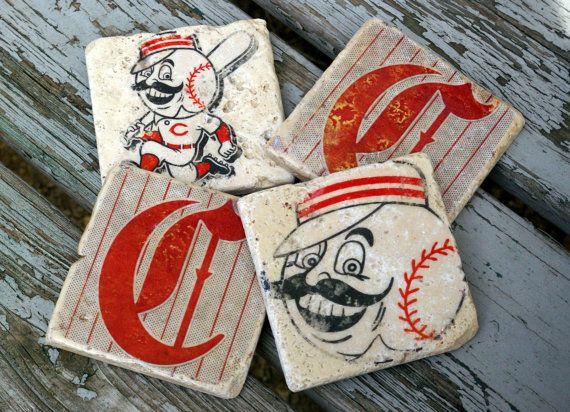 Vintage Cincinnati Reds Drink Coaster/ Mr. By