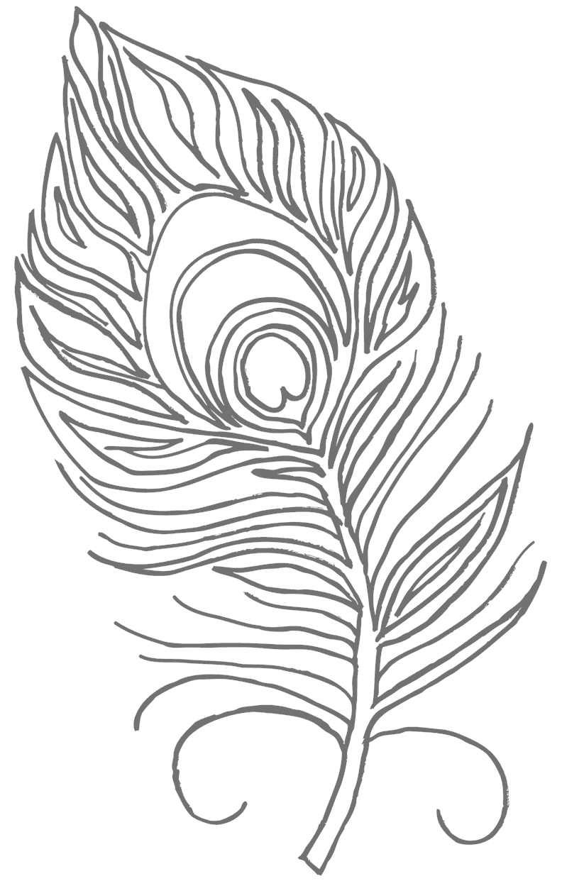 Peacock Feather Coloring Page Peacock Coloring Pages Peacock