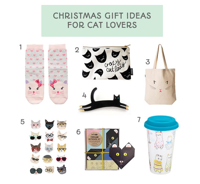 christmas gift ideas for the cat lover cat socks print origami brooch purse tote bag and flask this little space of mine