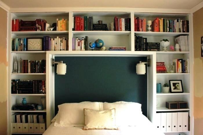 bedroom bookshelves bookshelf headboard bedroom nook childrens ...