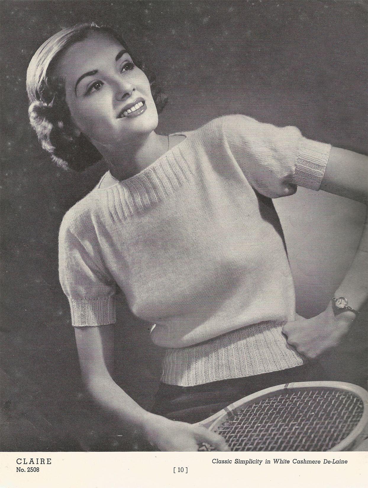 Free Vintage Knitting Pattern: 1930\'s Cashmere Blouse | Renée And ...