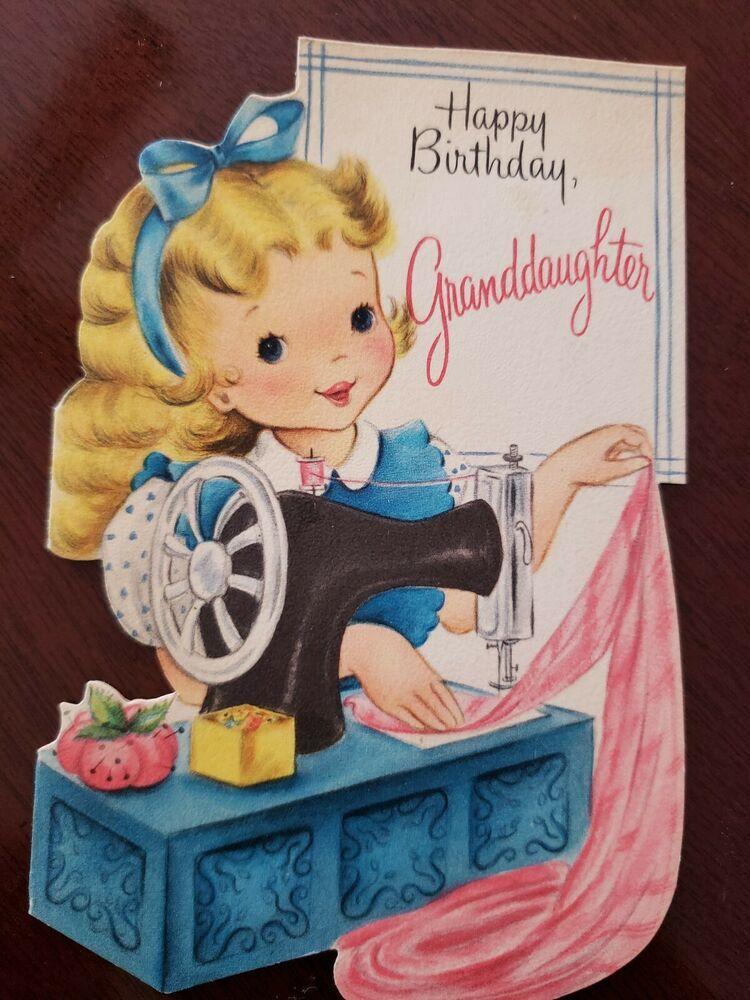 Details about vtg hallmark birthday greeting card diecut