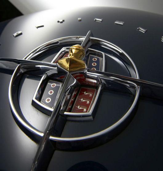 ..._1956 Lincoln Continental Mark II convertible emblem... :)
