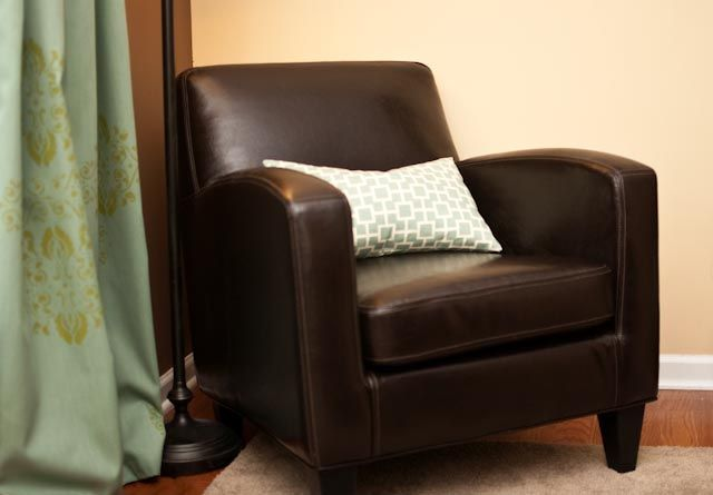 This is my fave sweet little comfy leather look chair for for Ikea comfy chair