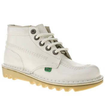 buy popular 19712 01101 Women's White Patent Kickers Hi Ii at schuh - pin me if I'm ...