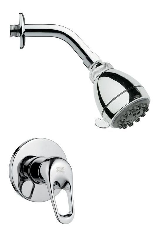 Nameeks SS1073 Remer 2.5 GPM Multi Function Shower Head with Valve Trim Rough In Chrome Faucet Shower Only Single Handle