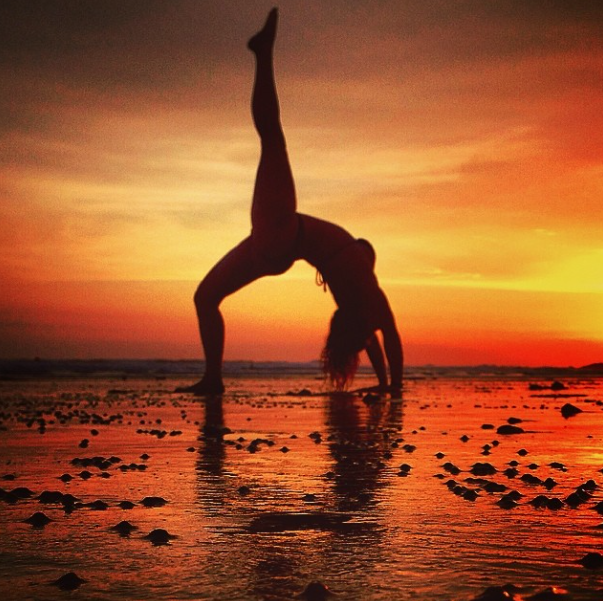 Sunset Beach Yoga With Images