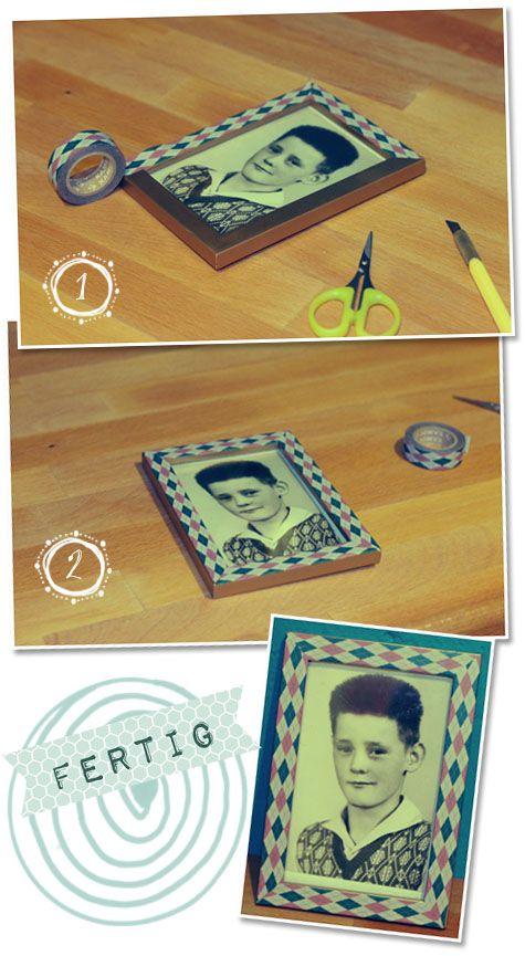 washi tape frame decoration