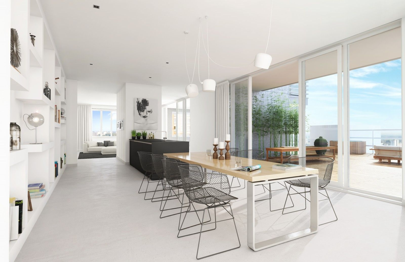 Kan het nog grootser en luxer? Dit penthouse op de 22ste verdieping van Intermezzo is het neusje van de zalm. Het werkelijk indrukwekkende terras van 152 m2 is groter dan het gemiddelde herenhuis. Kunt u zich voorstellen dat dit een fantastisch verlengstuk van uw living is? De hele dag en avond genieten van de zon …
