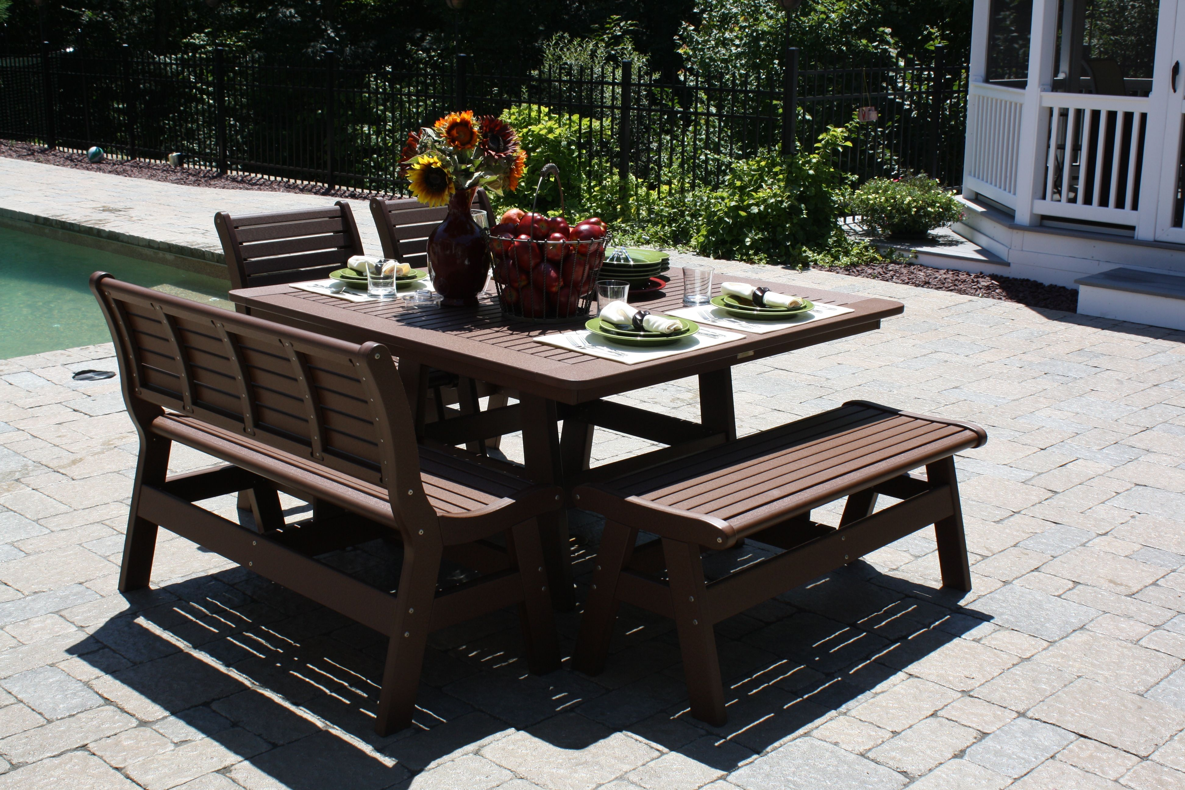 outdoor furniture dining group, perfectthe pool ! constructed of