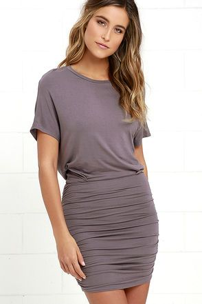 Chic Composure Dusty Purple Backless Dress at Lulus.com!