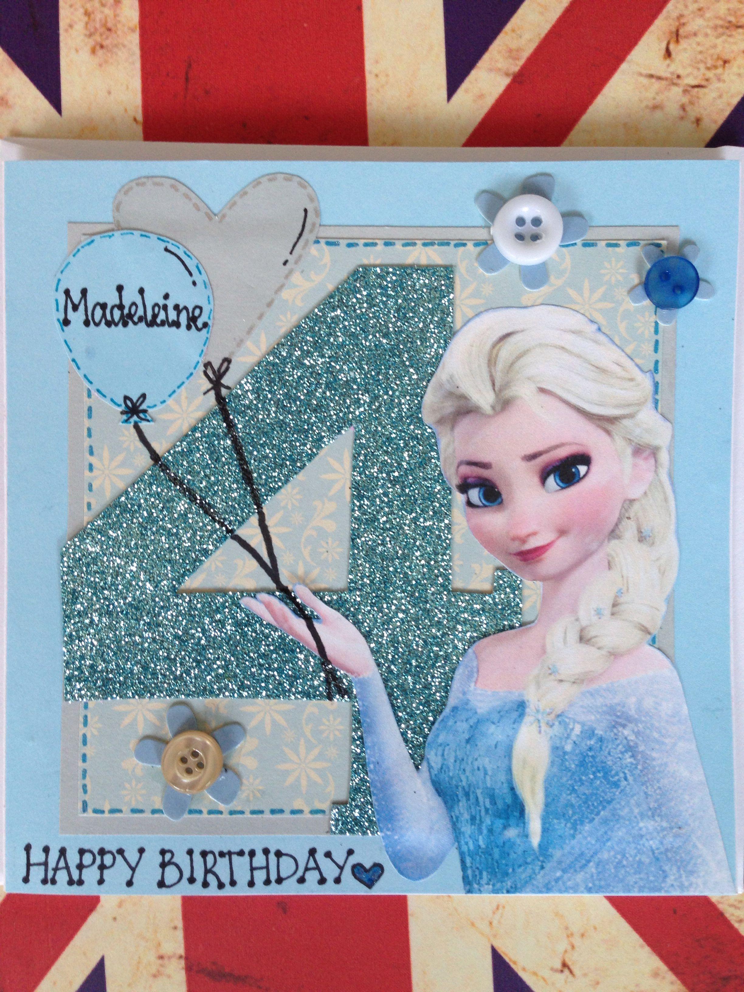 frozen's elsa birthday card   elsa birthday birthday
