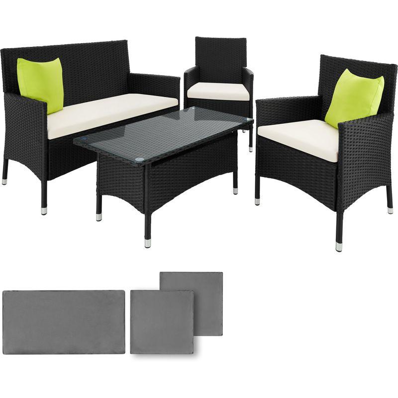 Salon de jardin BARCELONE - 2 Fauteuils 1 Canapé 1 Table en ...