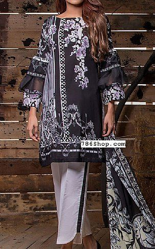 Black Lawn Suit   Buy Firdous Fashion Dress is part of lawn Design Dress - Pakistani Lawn Suits with prices online shopping in USA, UK    Pakistani Lawn clothing for sale with Free Shipping  Call +1 5123801085