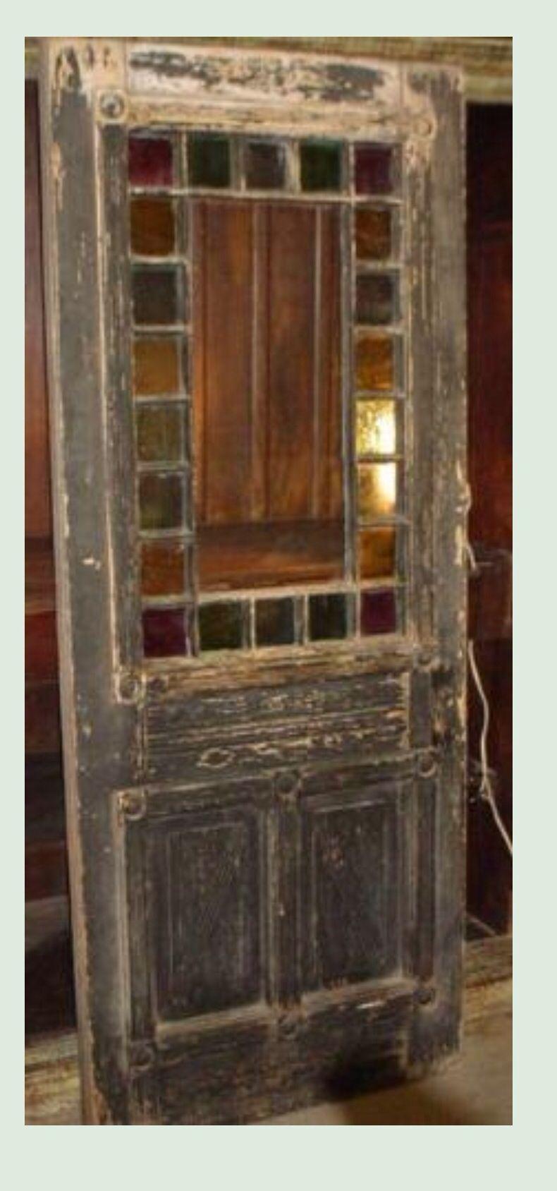 Gorgeous Old Wood Door Old Wood Doors Stained Glass Door