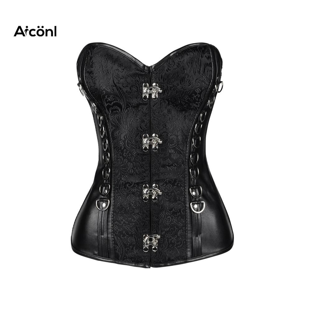 dd35fe4b2 Corset vintage Sexy plus size Solid corsets and bustiers Gothic Clothing  Lingerie Steampunk Chest binder Top latex waist trainer