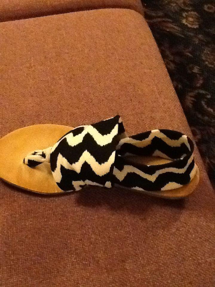 Love my chevron flip flops! :)