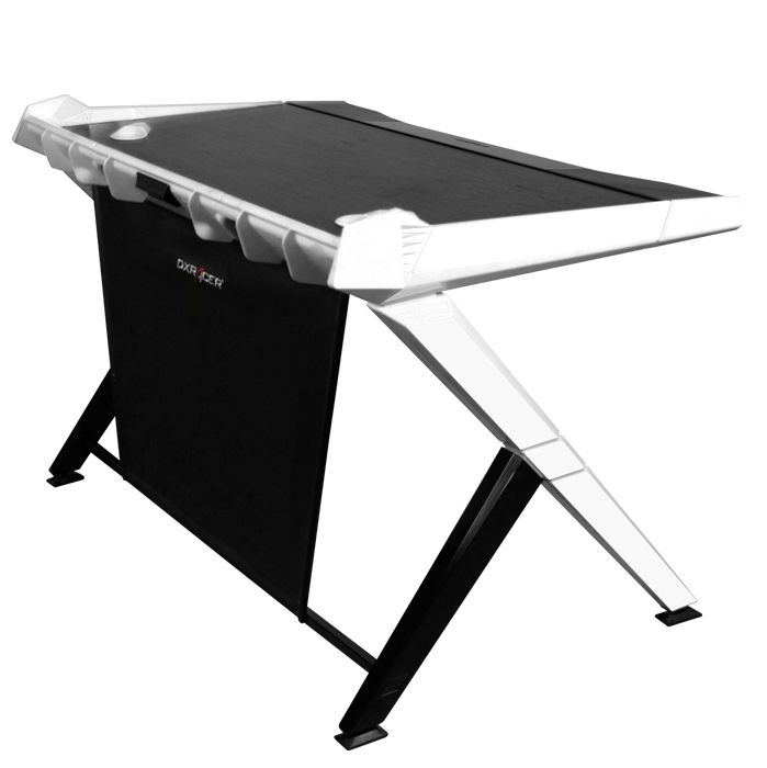 DXRacer Gaming Desk Black U0026 White. #gaming #gamers #game #funny #