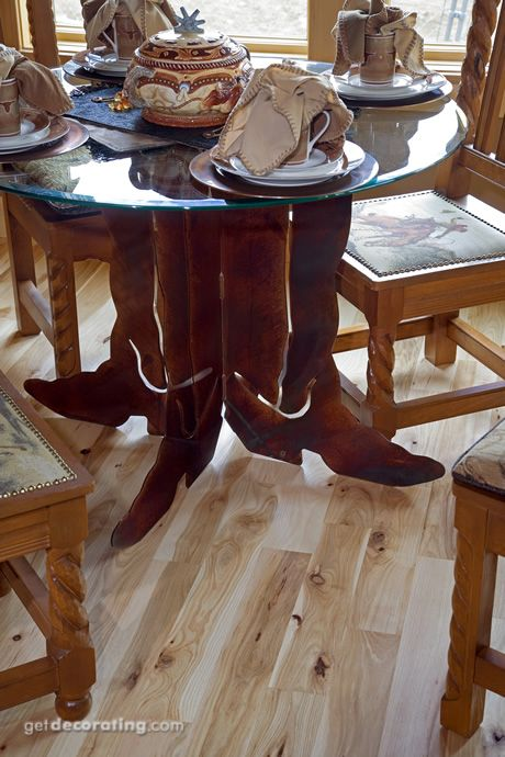Darling If You Have A Western Decorlove This Table The Cowboy Unique Western Style Dining Room Sets Review
