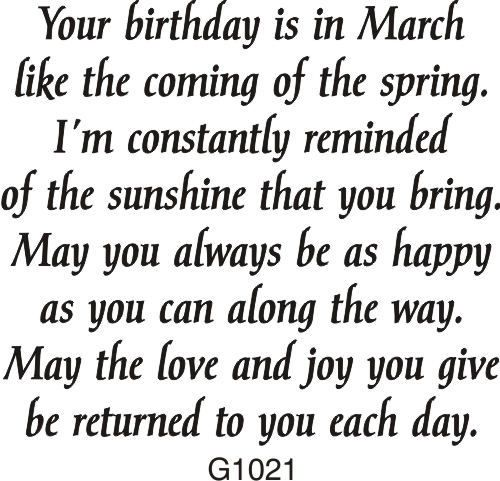 March birthday greeting 1021g march birthdays and cards march birthday greeting 1021g drs designs birthday greeting cardsbirthday sentimentsbirthday verses m4hsunfo Images