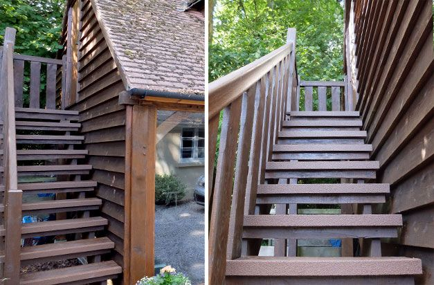 """Best """"Brown Stair Nosing Installed On The Staircase Of Our Oak 400 x 300"""