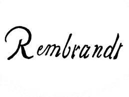 Signature of Rembrandt Van Rijn