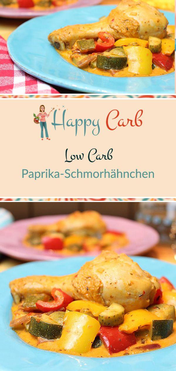 Paprika-Schmorhähnchen – Happy Carb Rezepte