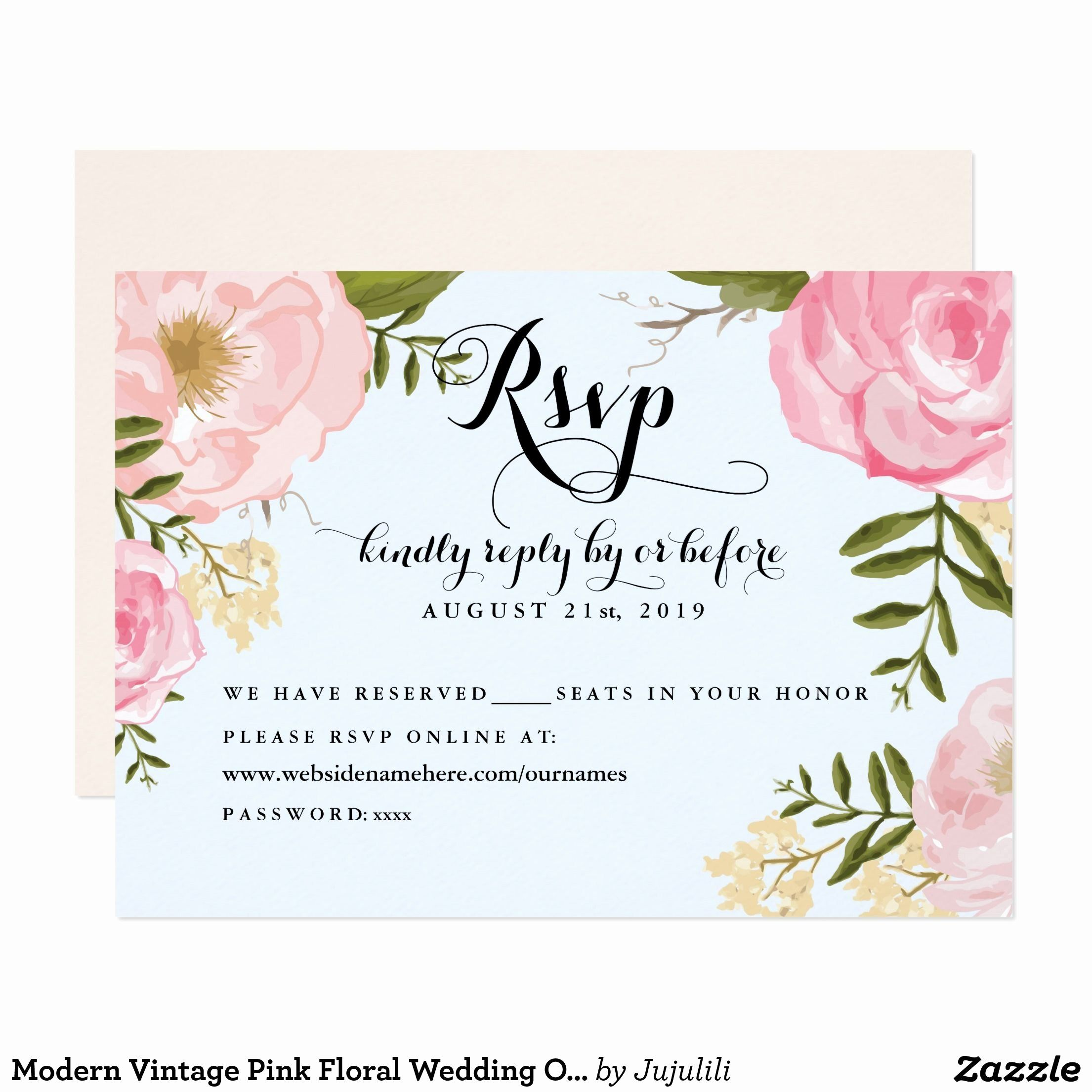 Wedding Invitation Rsvp Online Wording Beautiful Modern