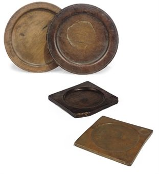 17th Century Kitchen Items - Beechwood Trencher (centre) & two ...