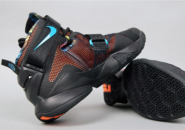 huge selection of 106a7 0df52 Nike LeBron Soldier 9   Black, Hyper Orange, Blue, and Lagoon