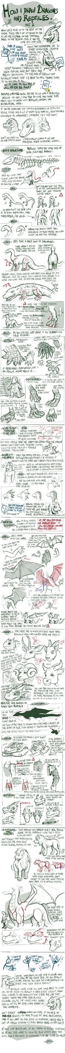 Tuto - How I draw reptiles/dragons - Part 2 by EMP-83.deviantart.com on @DeviantArt