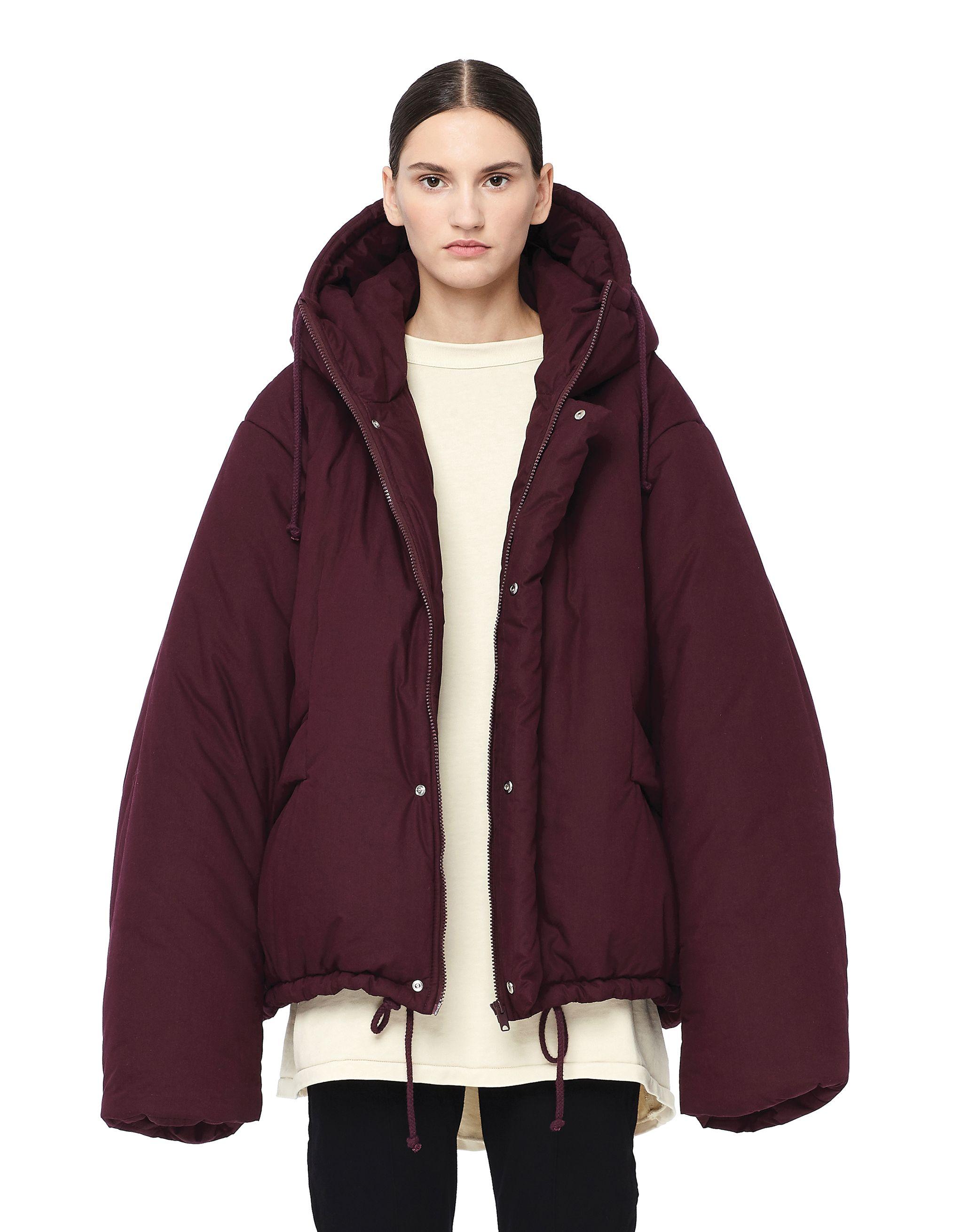 Yeezy Oxblood Short Puffer Jacket In Burgundy Modesens Jackets Short Puffer Jacket Yeezy [ 2620 x 2027 Pixel ]