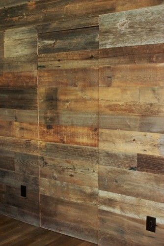 Reclaimed Barn Wood Walls Would Be Cool To Do One Wall Of