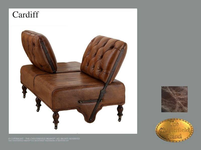 Chesterfield 2 Sitzer Sofa</br>Cardiff Old Look Braun