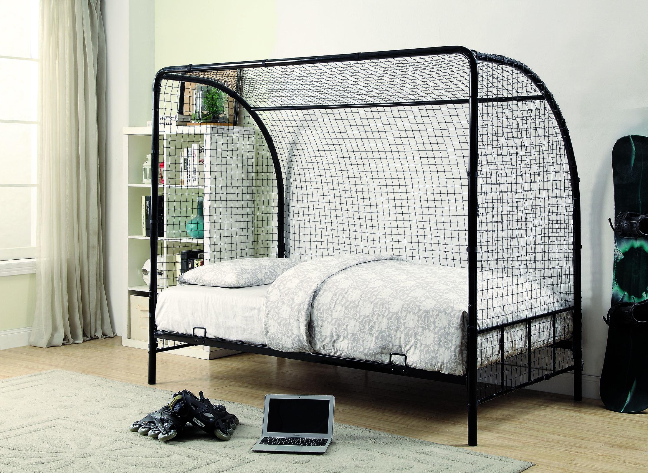Coaster 301067 Black Metal Twin Soccer Bed Frame | Kids beds | Pinterest