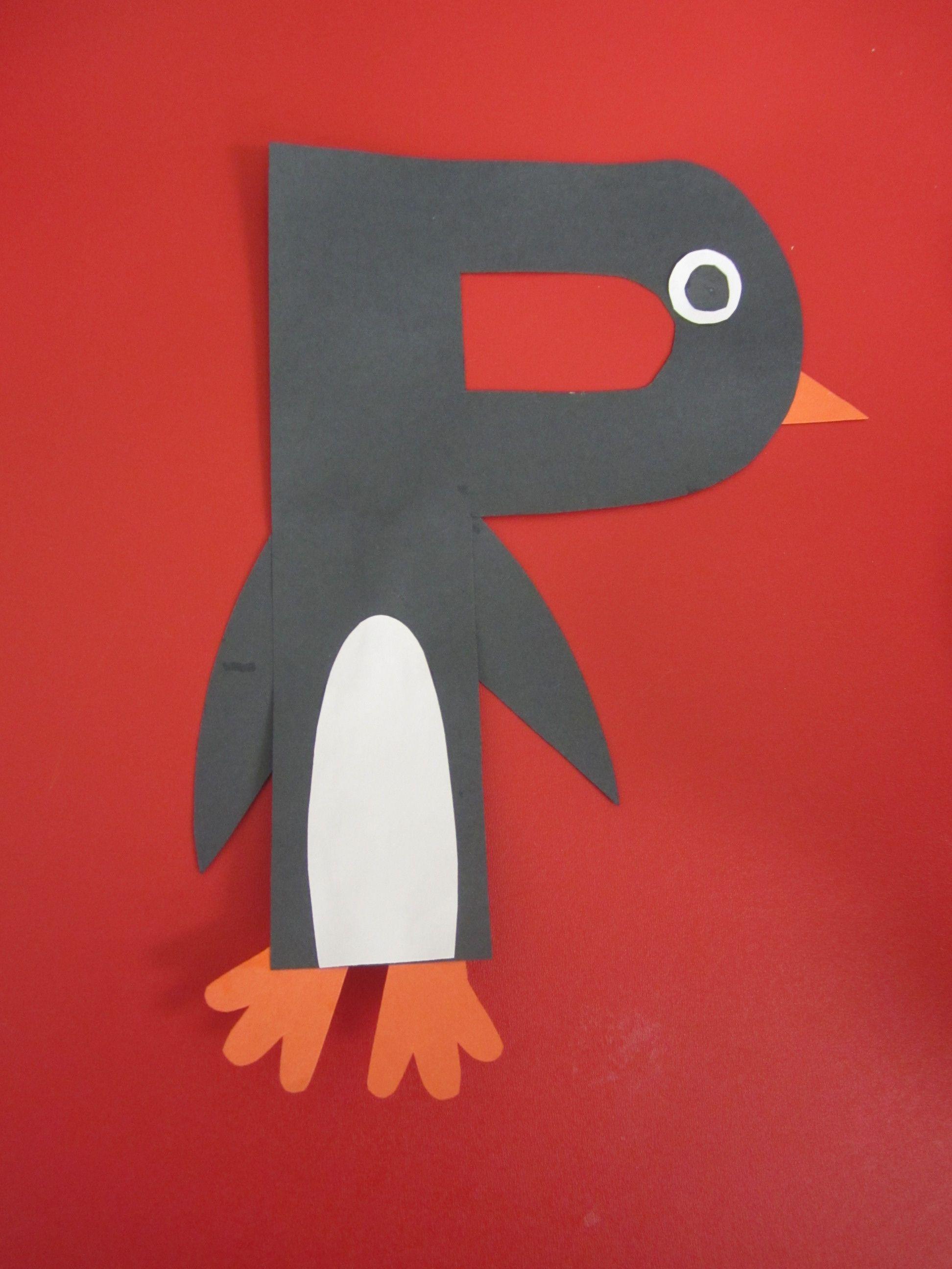 P Is For Penguin Preschool Alphabet Craft
