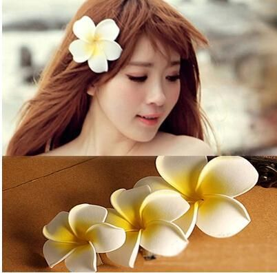 Flower Hair Accessories For Women Girls Bali Frangipani Wedding Hair Clips Korea Jewelry Ko Hair Accessories For Women Flower Hair Accessories Hair Accessories