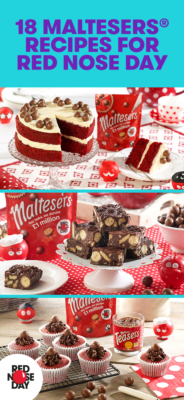 We've teamed up with Maltesers to bring you some delicious baking recipes. Sell your creations at your Red Nose Day bake sale.