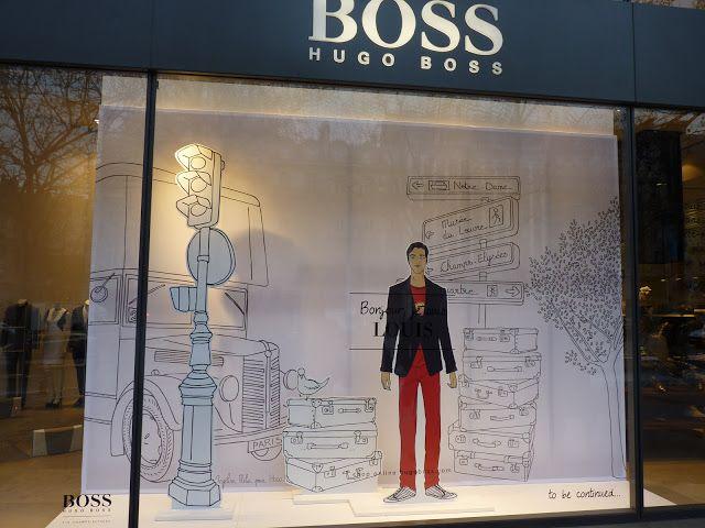 Hugo Boss window display by Angéline Mélin (Champs Elysees)