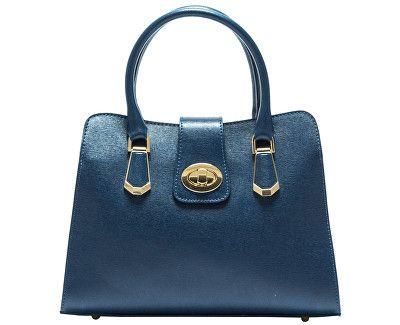 Carla Ferreri Elegantní kožená kabelka 417 BLU  ce8746cc7bf